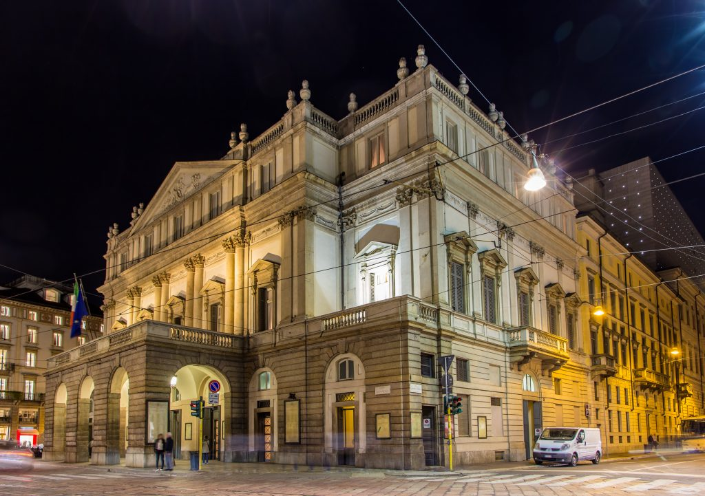La Scala, an opera house in Milan, Italy