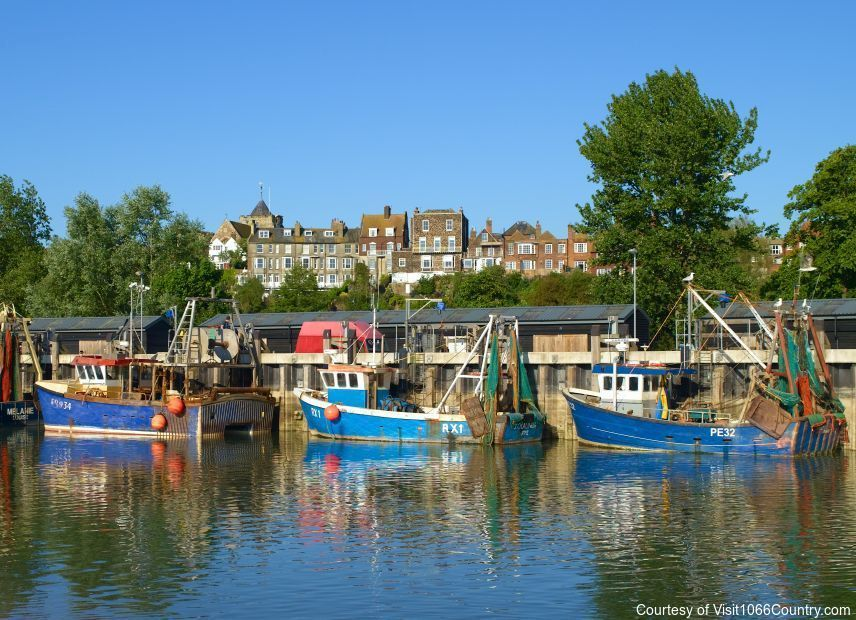 Fishing in Rye, East Sussex, England